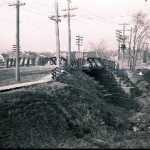 Woodland Street railroad bridge, December 13, 1913 (Glass negatives collection)