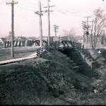 Woodland Street railroad bridge, December 13, 1913 (Glass negatives collection)